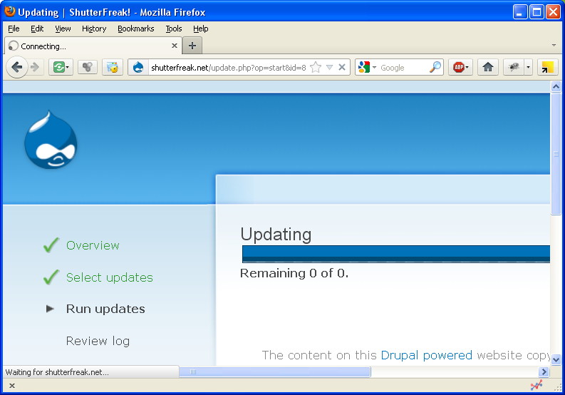Drupal: update.php progress